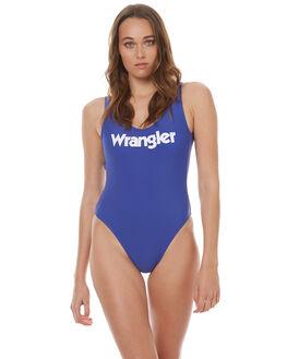VINTAGE BLUE WHITE WOMENS SWIMWEAR WRANGLER ONE PIECES - W-950936-921BLUWT