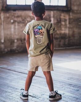 KHAKI WASH KIDS BOYS ROCK YOUR KID TOPS - TBT1927-CVKHK
