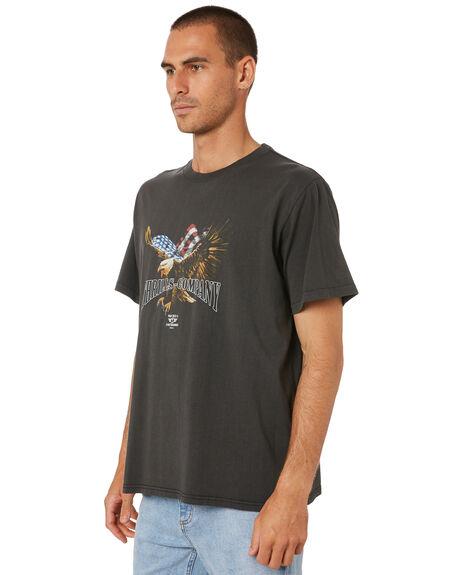 MERCH BLACK MENS CLOTHING THRILLS TEES - TR9-115BMMCBLK