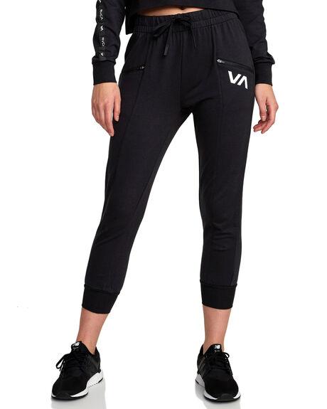 BLACK WOMENS CLOTHING RVCA ACTIVEWEAR - RV-R407890-BLK