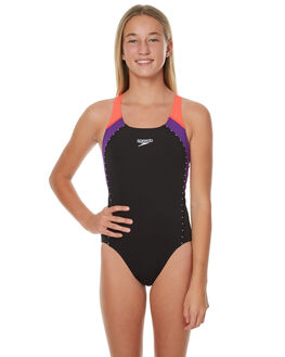 BLACK IMPERIAL KIDS GIRLS SPEEDO SWIMWEAR - 4245B-6448