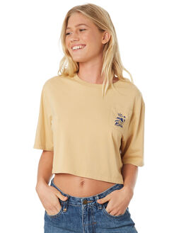 VINTAGE YELLOW WOMENS CLOTHING RVCA TEES - R293683VYEL