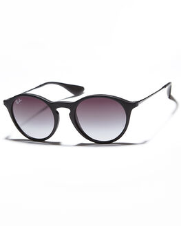 RUBBER BLACK GREY UNISEX ADULTS RAY-BAN SUNGLASSES - 0RB4243496228G