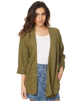 KHAKI OUTLET WOMENS THE HIDDEN WAY FASHION TOPS - H8174381KHAK