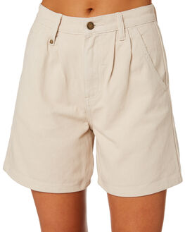 DIRTY WHITE WOMENS CLOTHING THRILLS SHORTS - WTDP-327AWHT