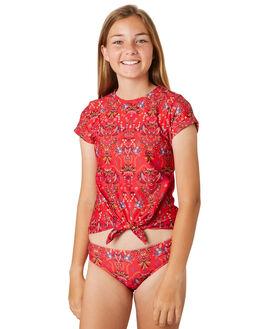 RED KIDS GIRLS SEAFOLLY SWIMWEAR - 27105-115RED