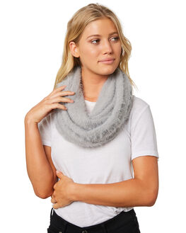 LIGHT GREY HEATHER WOMENS ACCESSORIES RIP CURL SCARVES + GLOVES - GSABZ13233