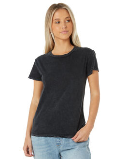 WASHED BLACK WOMENS CLOTHING SWELL TEES - S8183001WSHBK