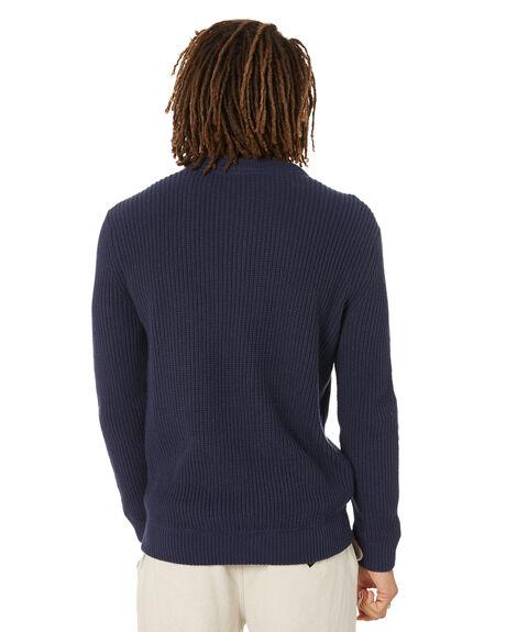 OCEAN BLUE MENS CLOTHING DEPACTUS KNITS + CARDIGANS - D5221146OCNBL