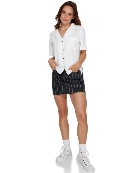 WHITE WOMENS CLOTHING RVCA FASHION TOPS - R291184WHI