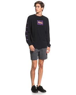 BLACK MENS CLOTHING QUIKSILVER TEES - EQYZT05835-KVJ0