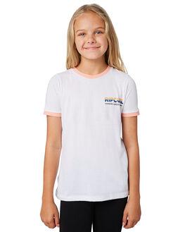 WHITE KIDS GIRLS RIP CURL TOPS - JTEDY11000