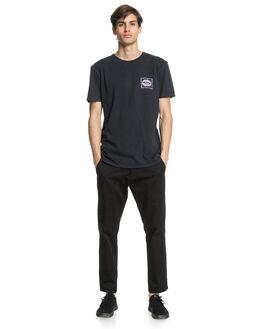 BLACK MENS CLOTHING QUIKSILVER TEES - EQYZT05975-KVJ0