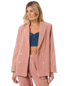 DUSTY PINK WOMENS CLOTHING ROLLAS JACKETS - 13157DPNK