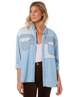 BLEACH BLUE WOMENS CLOTHING ROLLAS FASHION TOPS - 13135BLBLU