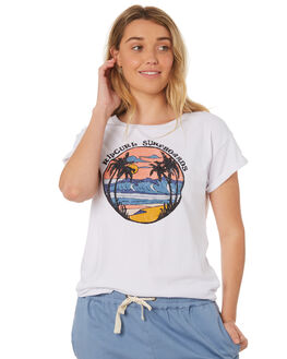 WHITE WOMENS CLOTHING RIP CURL TEES - GTEZN11000