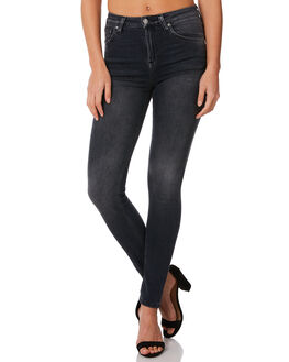 BLACK MOVEMENT WOMENS CLOTHING NUDIE JEANS CO JEANS - 112879BLKM1