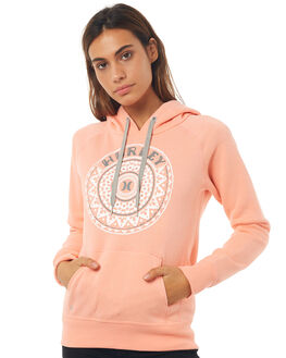 HTR FUSION CORAL WOMENS CLOTHING HURLEY JUMPERS - AGFLMDLAHFCR