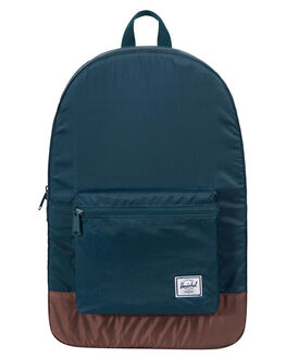 DEEP TEAL TAN MENS ACCESSORIES HERSCHEL SUPPLY CO BAGS + BACKPACKS - 10076-02187-OSTEAL