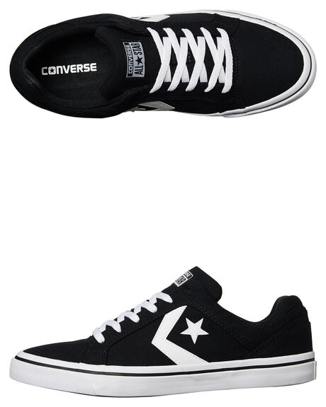 BLACK WHITE MENS FOOTWEAR CONVERSE SNEAKERS - 155064BLK