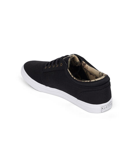 BLACK CAMO MENS FOOTWEAR KUSTOM SNEAKERS - KS-4993105-BP4