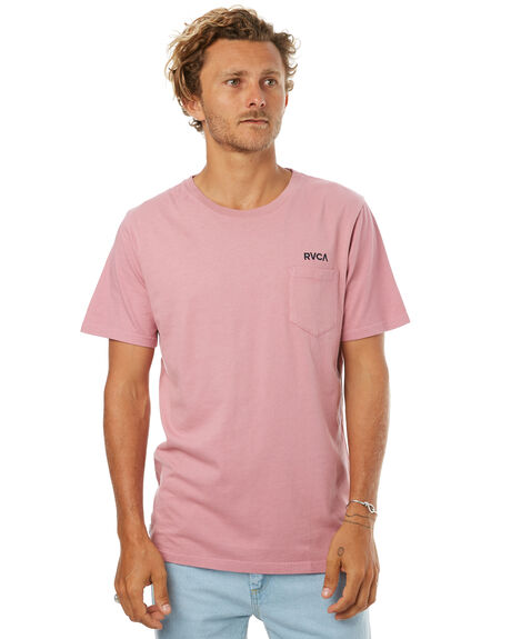 ROSE RED MENS CLOTHING RVCA TEES - R172052RRED