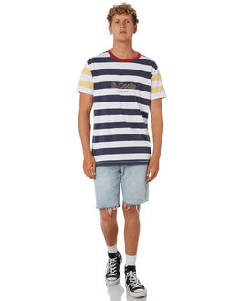 NAVY STRIPE MENS CLOTHING BARNEY COOLS TEES - 119-CC4NVYST