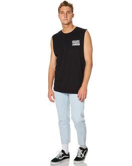 BLACK MENS CLOTHING SANTA CRUZ SINGLETS - SC-MTA7504BLK