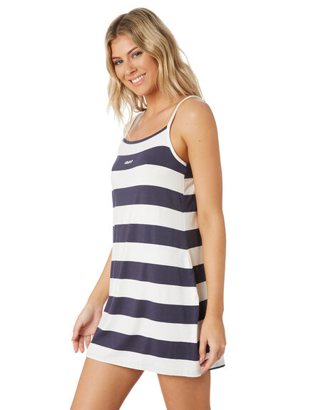 NAVY STRIPE WOMENS CLOTHING ALL ABOUT EVE DRESSES - 6444067NVSR