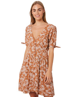 RUNAWAY FLORAL WOMENS CLOTHING THE HIDDEN WAY DRESSES - H8188443RUNFL