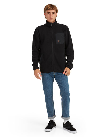 BLACK MENS CLOTHING QUIKSILVER HOODIES + SWEATS - UQYFT03074-KVJ0
