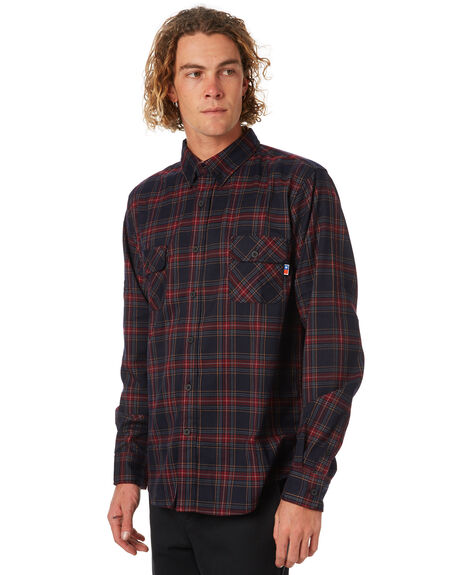 RED OUTLET MENS ZOO YORK SHIRTS - ZY-MSA8144RED