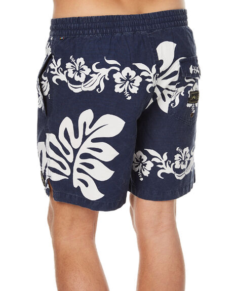 NAVY BLUE MENS CLOTHING RUSTY BOARDSHORTS - BSM1167NVB