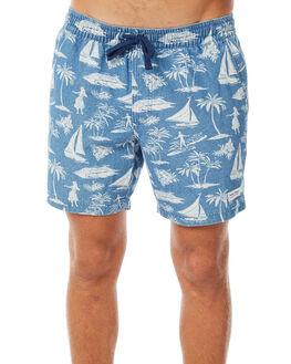 GLACIER BLUE MENS CLOTHING BANKS SHORTS - WS0085GBL