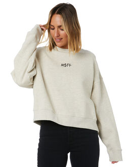 LIGHT GREY MARLE WOMENS CLOTHING MISFIT JUMPERS - MT105305LGMRL