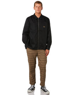 BLACK MENS CLOTHING STUSSY JACKETS - ST097508BLK