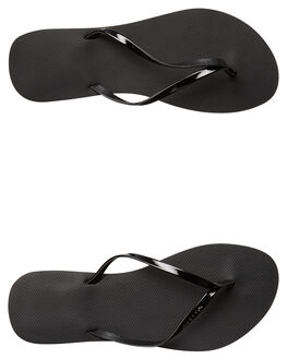 BLACK STEALTH WOMENS FOOTWEAR RUSTY THONGS - FOL0360BAH