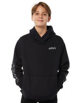 BLACK KIDS BOYS HURLEY JUMPERS - AB925231010