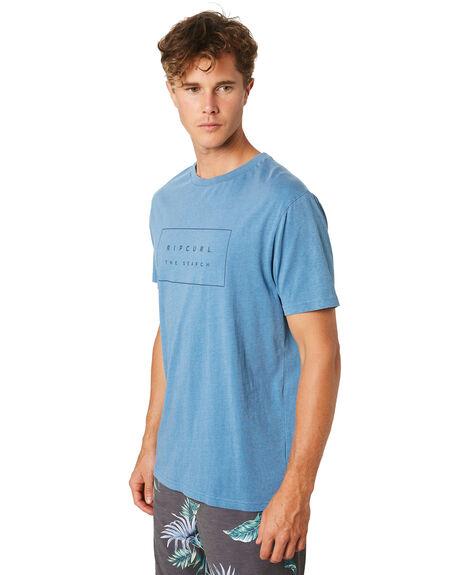DENIM BLUE MENS CLOTHING RIP CURL TEES - CTEQD24983