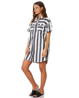 SPRING STRIPE WOMENS CLOTHING DR DENIM DRESSES - 1913106-S91