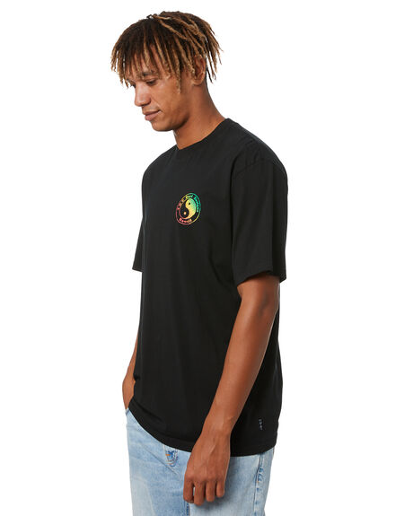 BLACK MENS CLOTHING TOWN AND COUNTRY TEES - TC212TEM06BLK