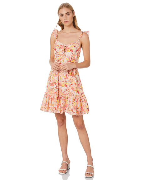 YELLOW COMBO WOMENS CLOTHING TIGERLILY DRESSES - T305421YEL