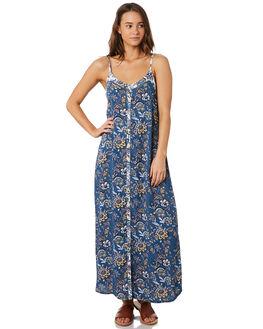 BLUE FLORAL WOMENS CLOTHING O'NEILL DRESSES - 5421612BLF