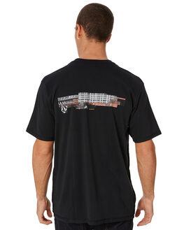 BLACK MENS CLOTHING VOLCOM TEES - A4331806BLK