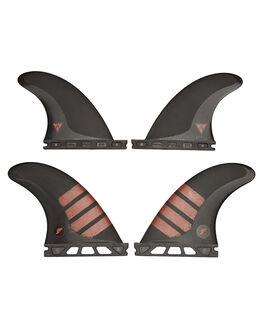 BLACK RED BOARDSPORTS SURF FUTURE FINS FINS - QF4-011503BLKRD