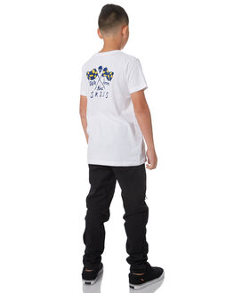 WHITE KIDS BOYS DEUS EX MACHINA TEES - DBP81735WHT