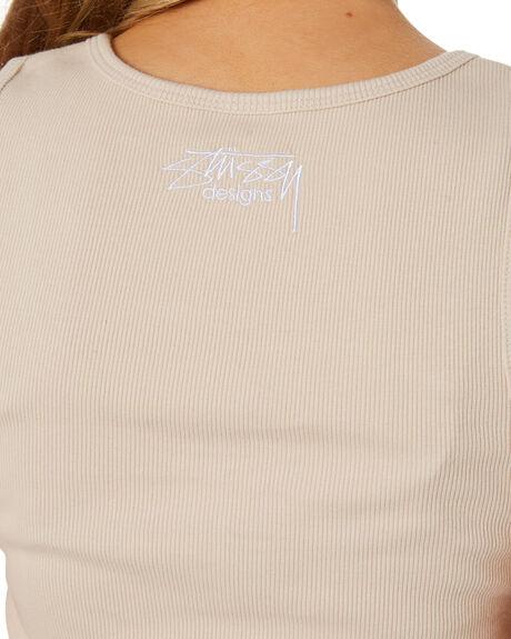 NEUTRAL WOMENS CLOTHING STUSSY SINGLETS - ST1M0197NET