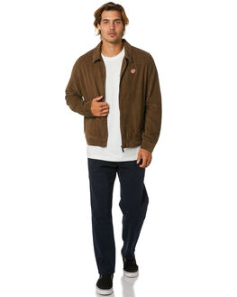 WASHED TAN MENS CLOTHING DEUS EX MACHINA JACKETS - DMA206495WSHTN