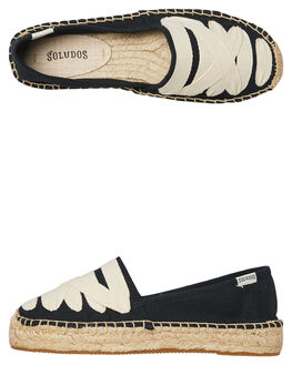 BLACK WOMENS FOOTWEAR SOLUDOS SLIP ONS - 1000131001