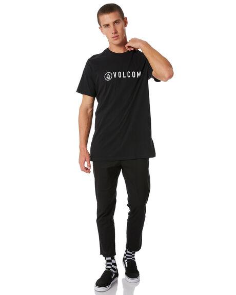 BLACK MENS CLOTHING VOLCOM TEES - A35117G7BLK